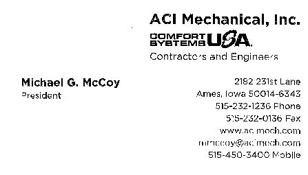 ACI Mechanical Inc