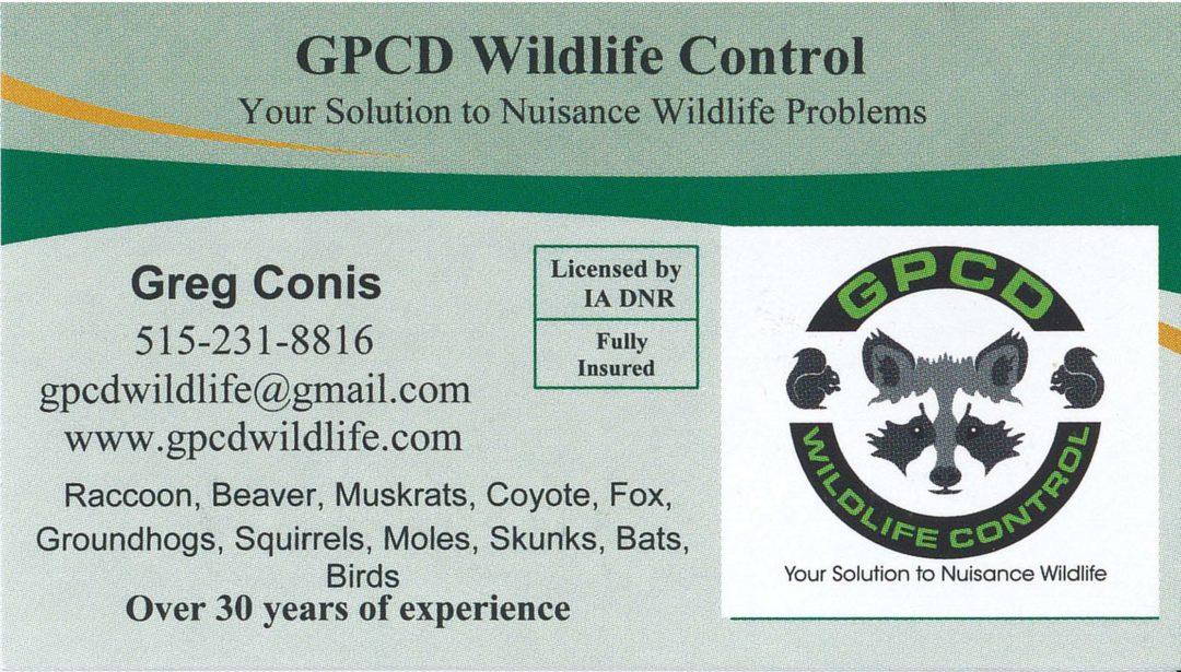 GPCD Wildlife Control